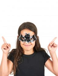 Demi-masque à sequins chauve-souris enfant Halloween