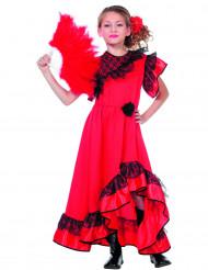 Déguisement danseuse andalouse rouge fille