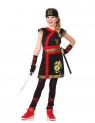 Déguisement ninja du dragon d'or fille