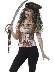 T-shirt pirate zombie femme adulte