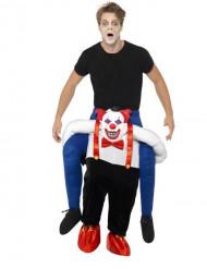Déguisement homme sur dos clown sinistre adulte Halloween