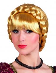 Perruque tressée blonde bavaroise femme