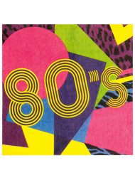 12 Serviettes en papier 80's Party 33 x 33 cm