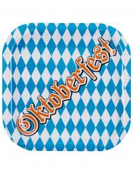 6 Assiettes en carton Oktoberfest 25 cm