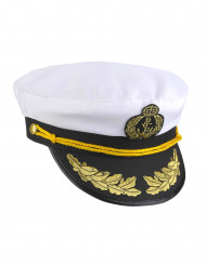 Casquette capitaine marin adulte