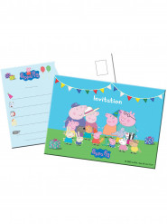 8 Cartes d'invitation Peppa Pig ™
