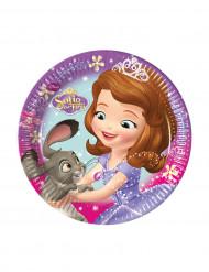 8 Petites assiettes en carton Princesse Sofia™ 19.5 cm