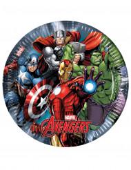 8 Assiettes en carton Avengers Power™ 23 cm