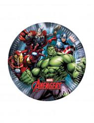 8 Petites Assiettes Avengers Power™ 19.5 cm