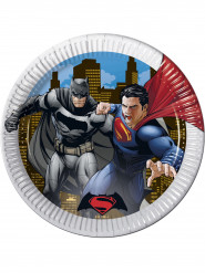 8 Assiettes en carton Batman vs Superman™ 23 cm