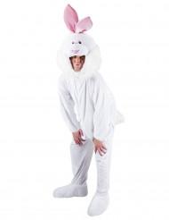 Déguisement lapin blanc mascotte adulte