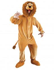 Déguisement lion mascotte adulte