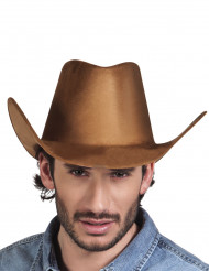 Chapeau cowboy far west marron adulte