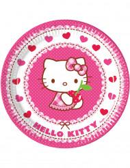 8 Assiettes en carton Hello Kitty™ 23 cm
