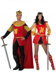 Déguisement de couple chevalier médiéval adulte