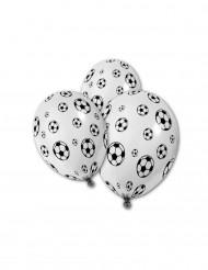 5 Ballons imprimé Ballons de foot