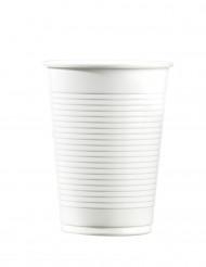 100 Gobelets en plastique blanc 20 cl