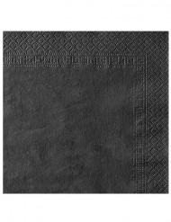 50 Serviettes noires 38 x 38 cm