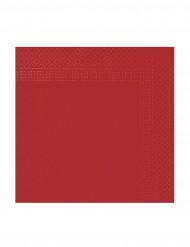 50 Serviettes rouge 38 x 38 cm