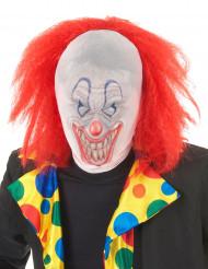 Cagoule clown avec Perruque adulte Halloween