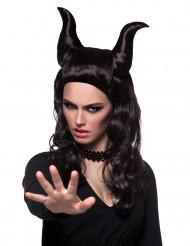 Perruque personnage démoniaque femme Halloween