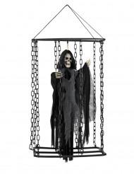 Décoration à suspendre faucheuse emprisonnée 50 cm Halloween
