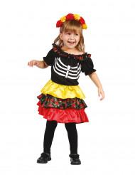 Déguisement squelette colorée fille