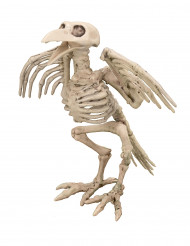 Décoration squelette de corbeau 19.5 cm Halloween