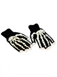 Gants squelette LED adulte Halloween