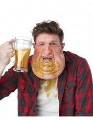 Demi-masque double menton avec vomi adulte
