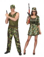 Déguisement de couple militaire adulte