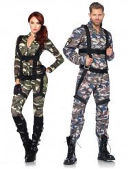 Déguisement de couple militaire luxe adulte