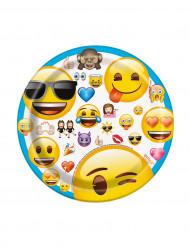 8 Assiettes en carton Emoji™ 17,5 cm