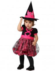 Déguisement bébé sorcière rose Halloween