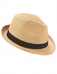 Chapeau borsalino avec bande noire adulte