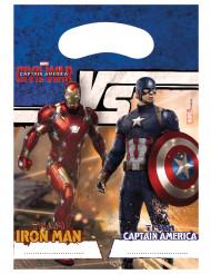 6 Sacs cadeaux Avengers Civil War™