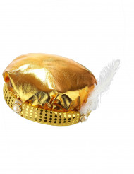 Coiffe turban doré sultan adulte