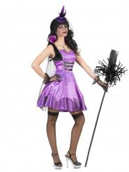 Déguisement vampire baroque violette femme Halloween
