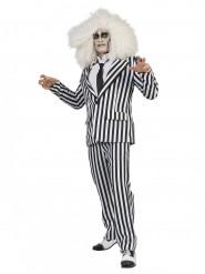 Déguisement costume rayé noir et blanc adulte