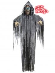 Décoration articulée, lumineuse et sonore zombie 160 cm Halloween