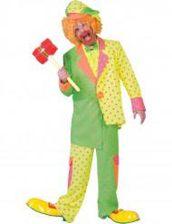 Déguisement clown fluo à pois homme