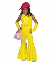 Déguisement combinaison jaune fluo fille