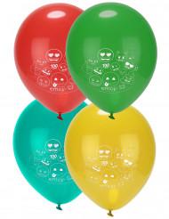 8 Ballons latex imprimés Emoji ™
