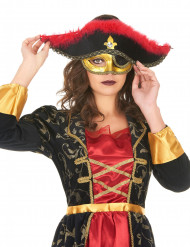 Loup vénitien pirate femme