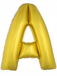 Ballon aluminium géant lettre A doré 1m