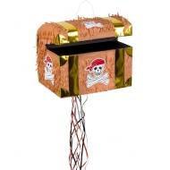 Piñata coffre au trésor de pirate 30 x 32 x 22 cm