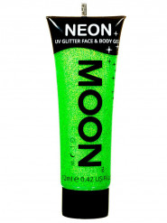 Gel visage et corps paillettes vert UV 12 ml Moonglow ©