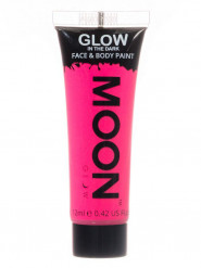 Gel visage et corps rose fluo phosphorescent 12 ml Moonglow ©