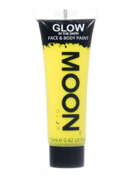 Gel visage et corps jaune fluo phosphorescent 12 ml Moonglow ©