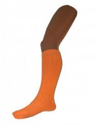 Chaussettes longues orange fluo 53 cm adulte